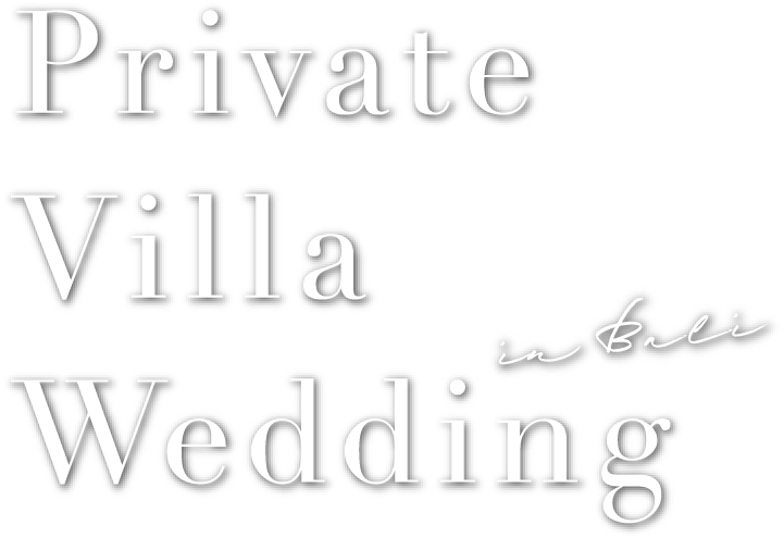 Private Villa Wedding in Bali